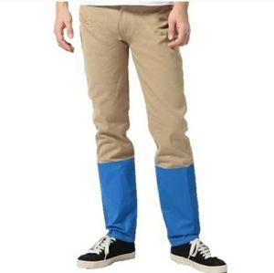 LEVI'S SELVAGE 508 Regular Fit Colorblock Jeans